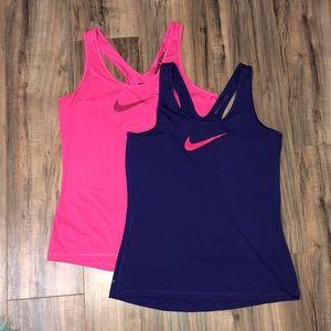 2 Nike Pro tank tops
